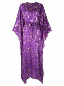 Taller Marmo printed kimono style dress - Purple