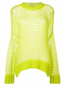 Nº21 oversized sheer jumper - Green