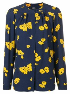 A.P.C. Serena printed blouse - Blue