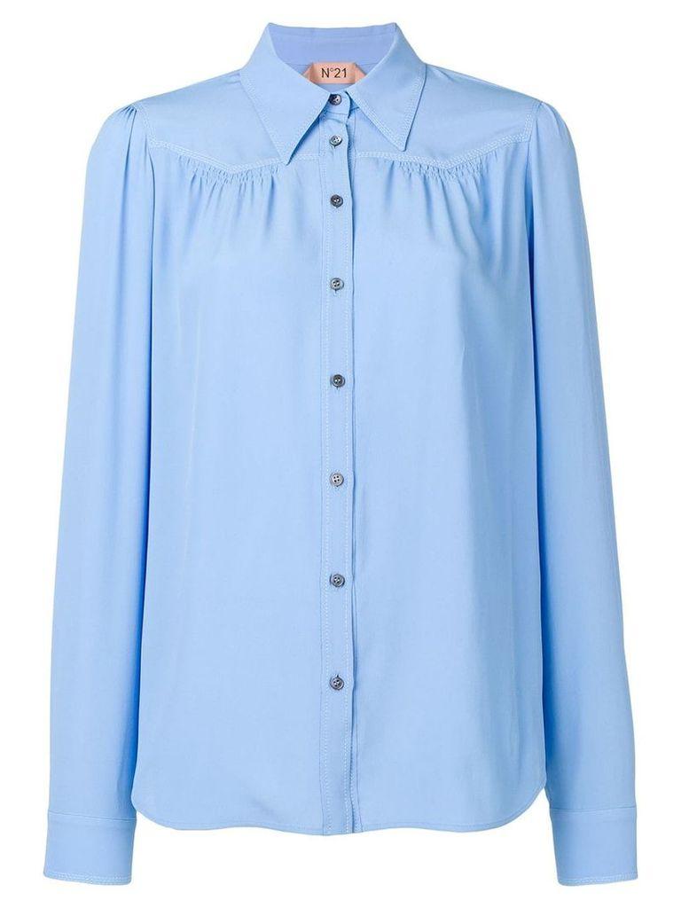 Nº21 pleated shirt - Blue