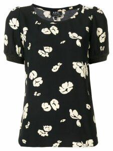A.P.C. floral print blouse - Black