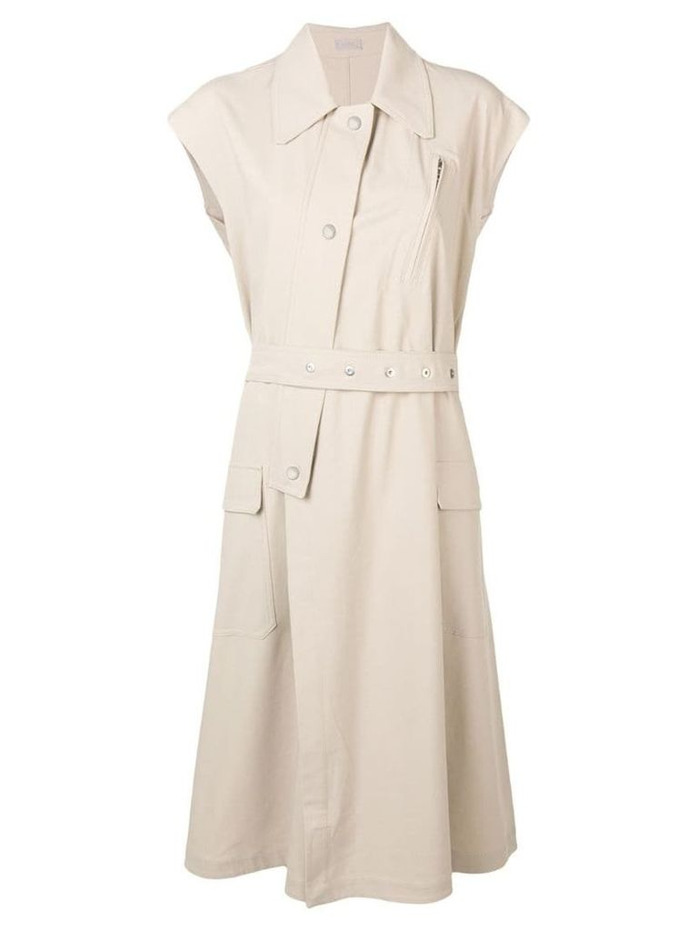 MRZ sleeveless trench coat - Neutrals