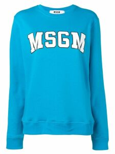 MSGM college logo jumper - Blue