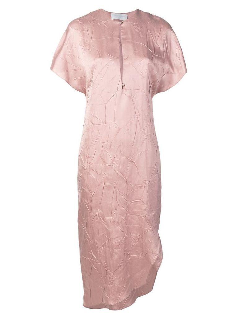 Esteban Cortazar calf length tunic dress - Pink