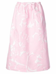 Marni a-line printed skirt - White