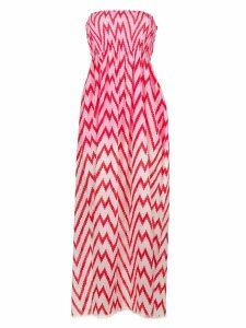 Tara Matthews Capo zig-zag maxi beach dress - Pink