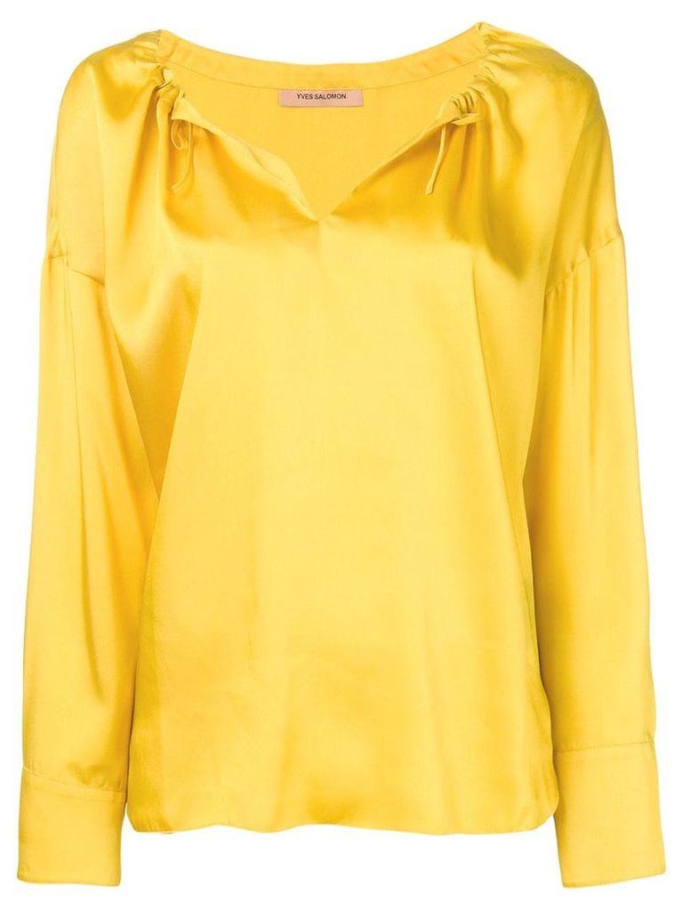 Yves Salomon satin blouse - Yellow