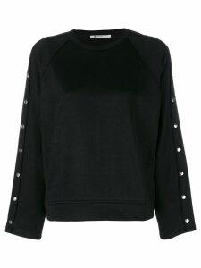T By Alexander Wang studded sweatshirt - Black