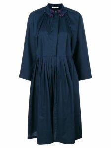 Vivetta embroidered collar midi dress - Blue