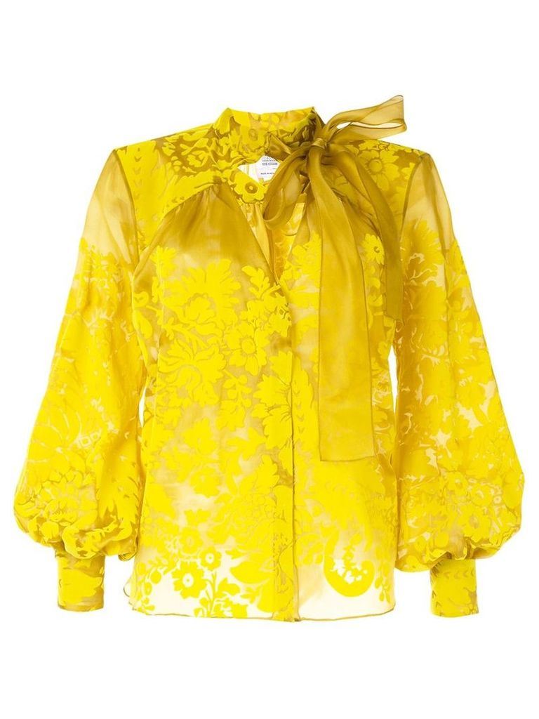 Rosie Assoulin floral embroidered blouse - Yellow