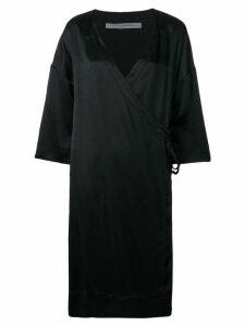 Raquel Allegra wrap kimono dress - Black