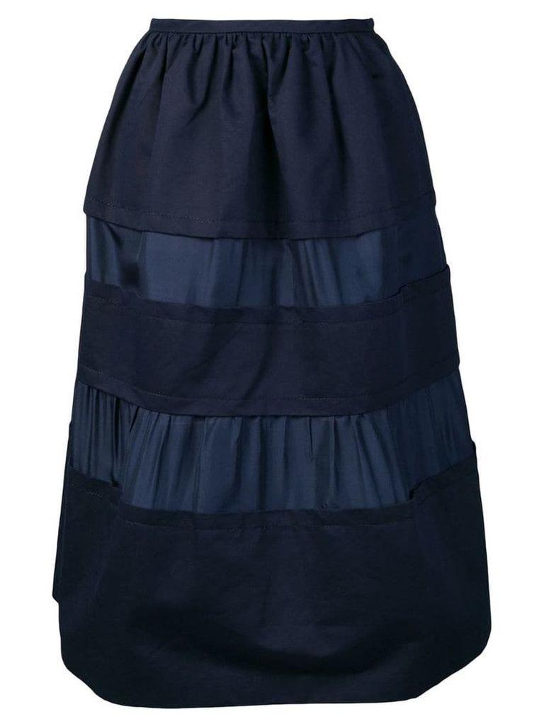 Marni panelled midi skirt - Blue