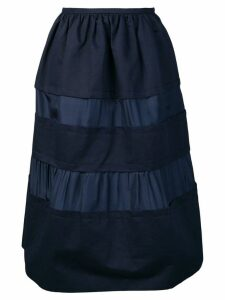 Marni panelled midi skirt - Blue