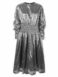 Comme Des Garçons Noir Kei Ninomiya metallic gingham dress - Silver