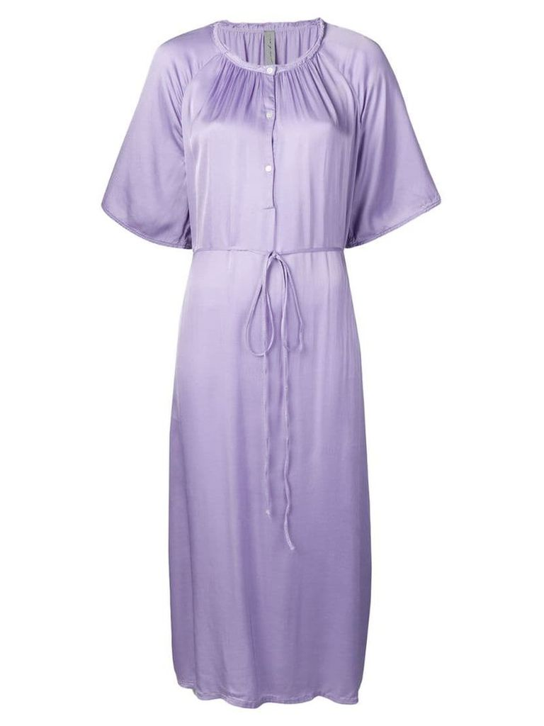 Raquel Allegra flared midi dress - Purple