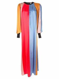 Roksanda striped pleated maxi dress - Multicolour