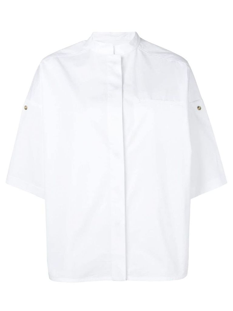 Yves Salomon cuffed sleeves shirt - White