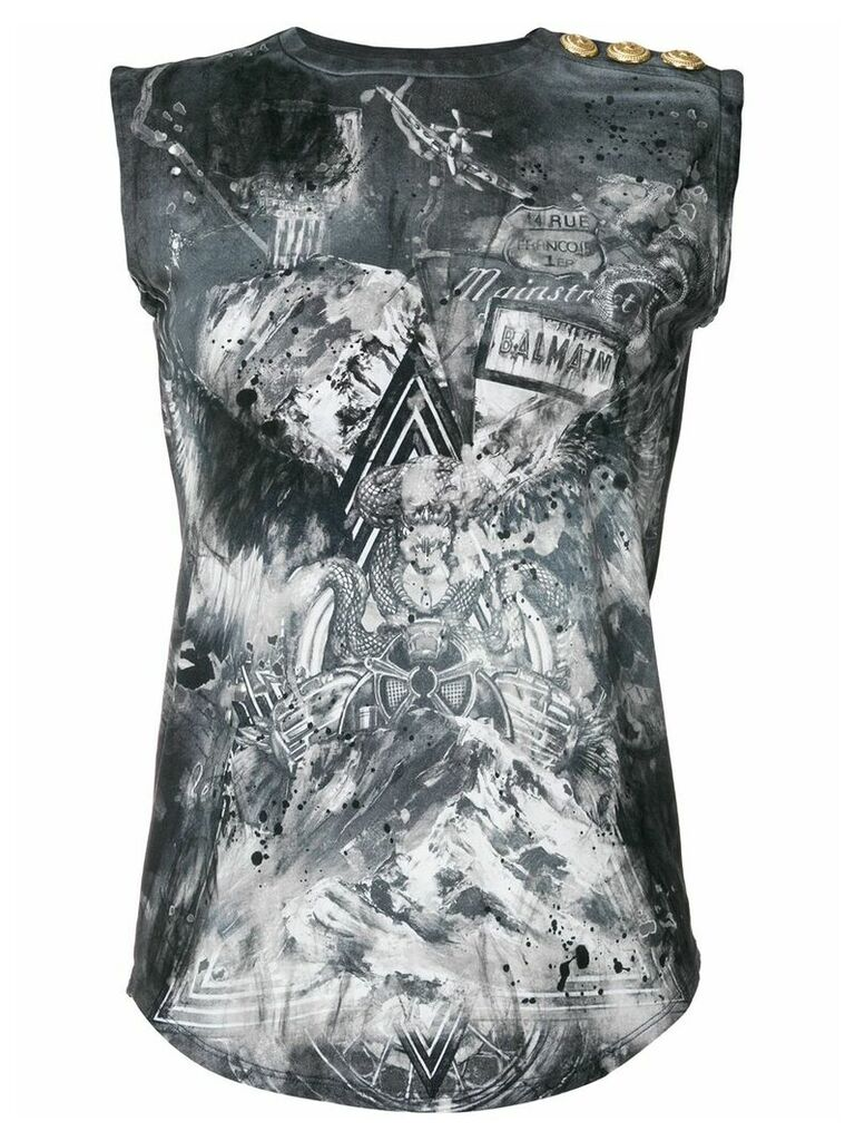 Balmain Warrior tank top - Grey