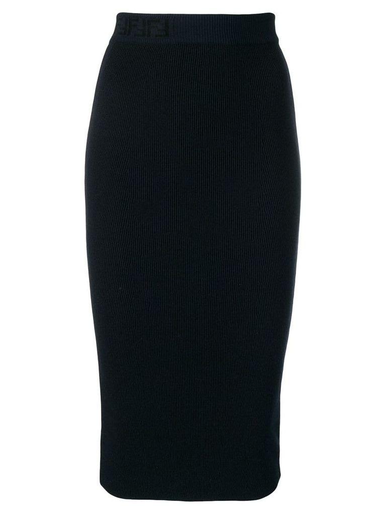 Fendi knitted pencil skirt - Blue