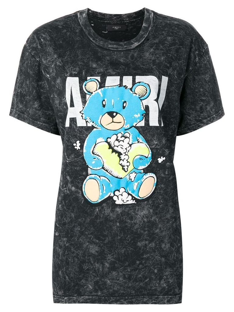 Amiri teddy bear print T-shirt - Black