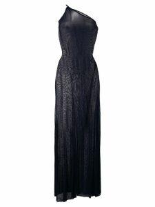 Jacquemus asymmetric shift maxi dress - Blue