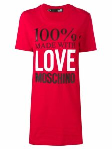 Love Moschino T-shirt dress - Red