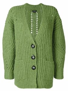 Isabel Marant long knitted cardigan - Green