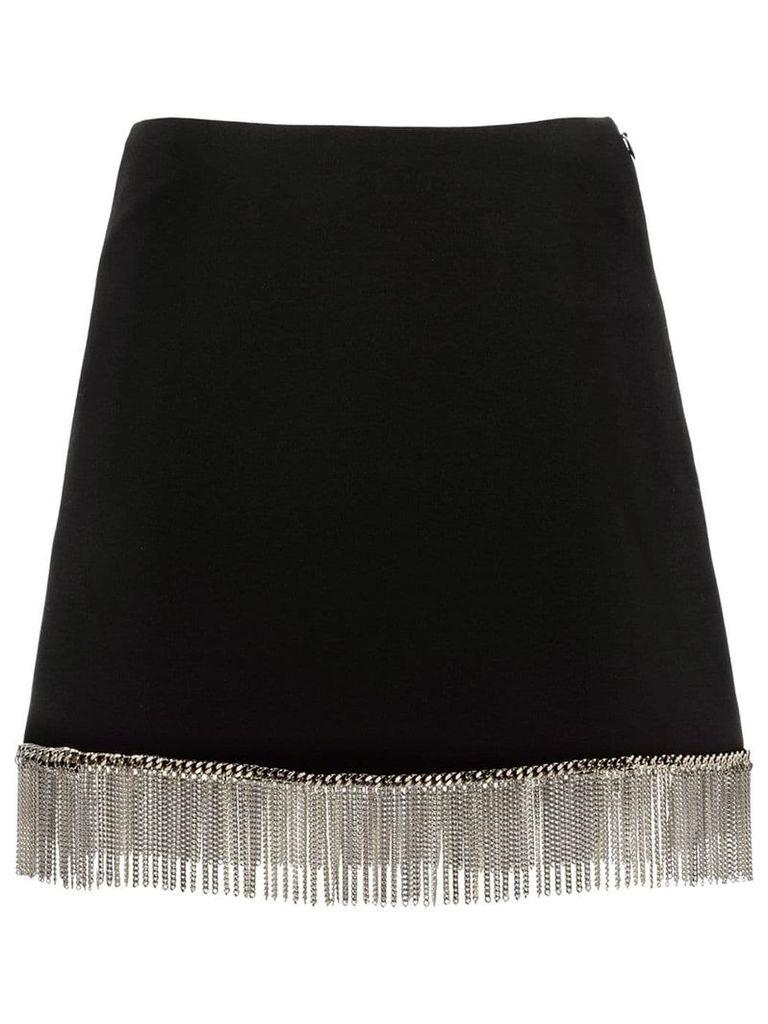 Miu Miu chain fringed cady skirt - Black