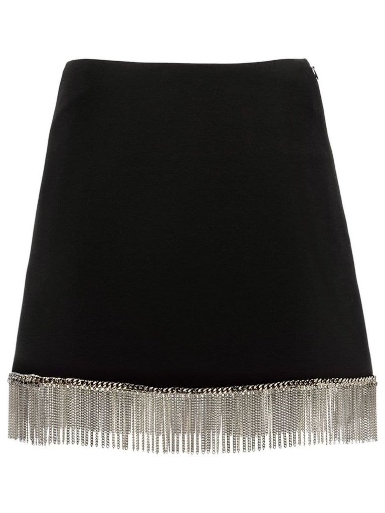 Miu Miu chain fringed cady skirt - Black