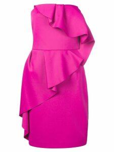 Lanvin ruffled bustier dress - Pink