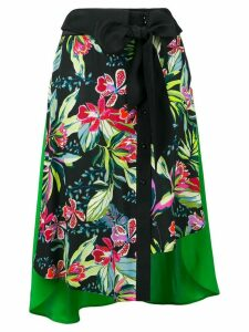 Barbara Bui floral print skirt - Black