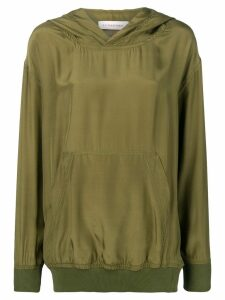 A.F.Vandevorst hooded silk top - Green