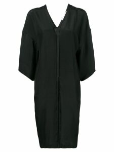 A.F.Vandevorst v-neck silk dress - Black