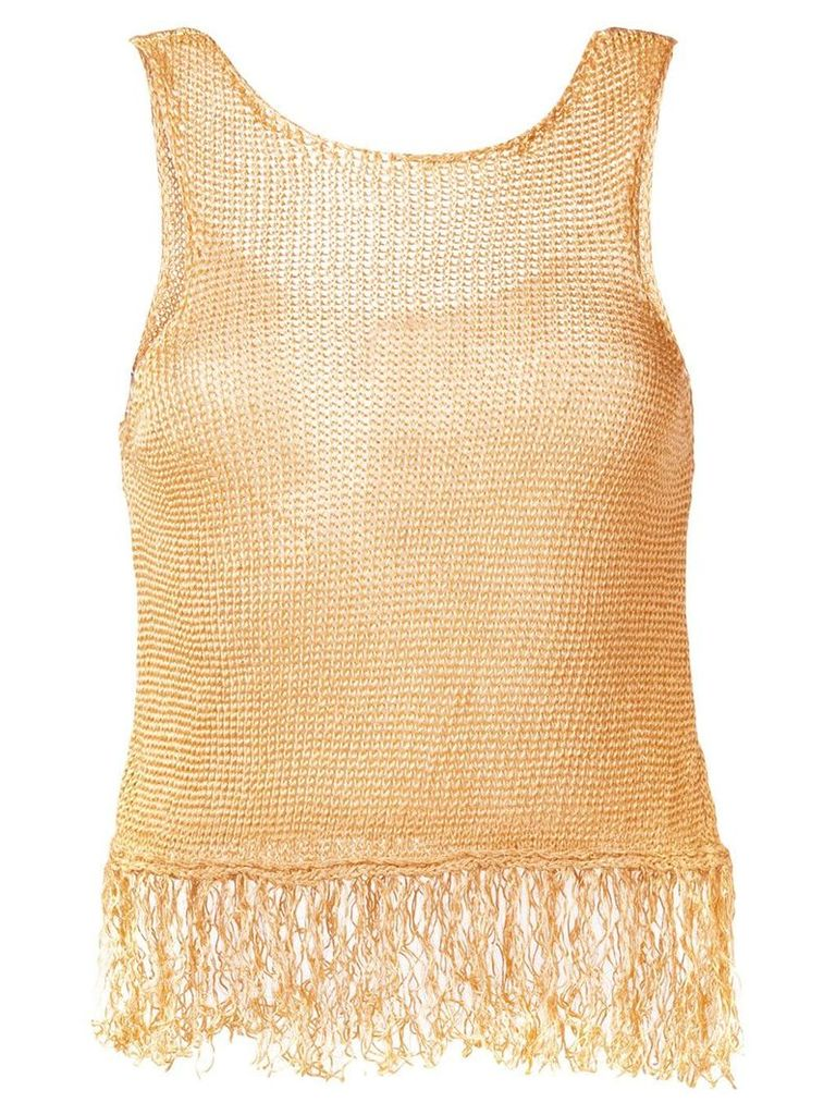 Forte Forte fringed knit tank top - Neutrals
