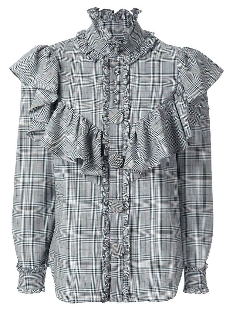 Facetasm ruffle trimmed shirt - Grey