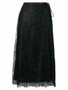 Alexa Chung lace midi skirt - Black