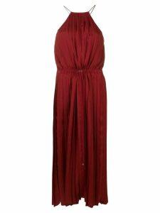 Tibi Mendini twill pleated dress - Red