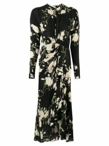 Johanna Ortiz floral print midi dress - Black