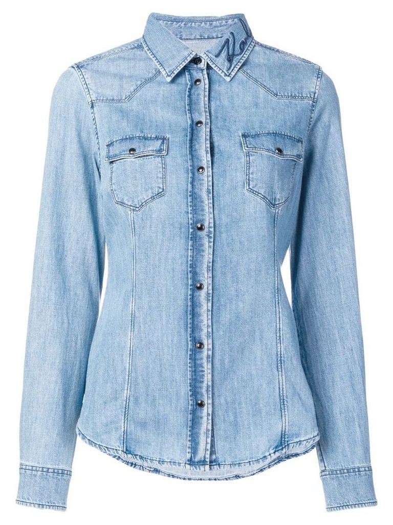 Karl Lagerfeld slim-fit denim shirt - Blue