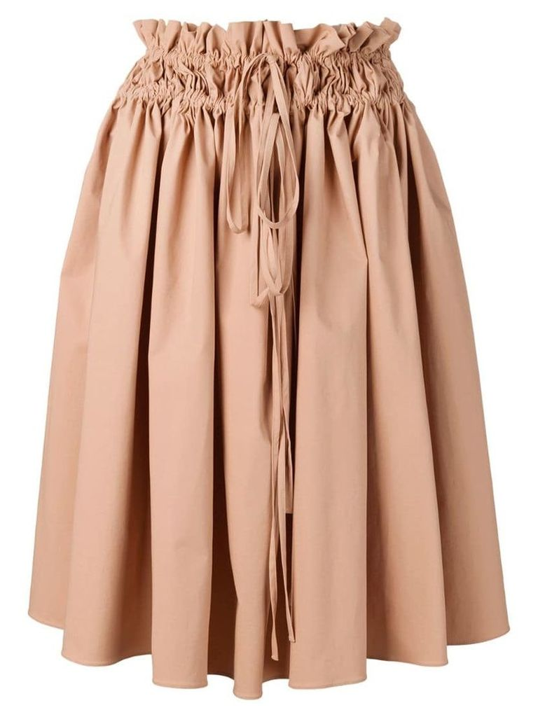 Jil Sander Navy A-line midi skirt - Brown