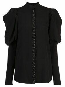 Vera Wang exaggerated sleeve blouse - Black