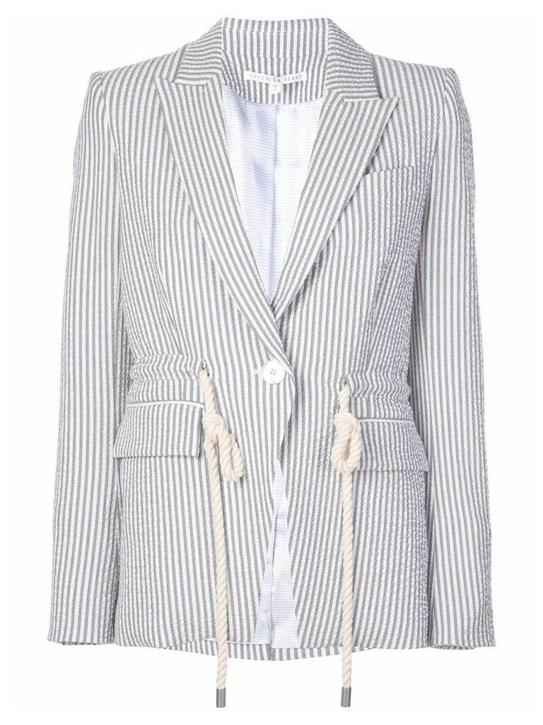 Veronica Beard striped blazer - Grey