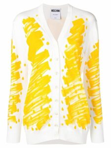 Moschino painted cardigan - Yellow