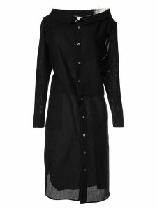 Facetasm layered button dress - Black