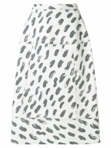 Marni printed A-line skirt - Grey