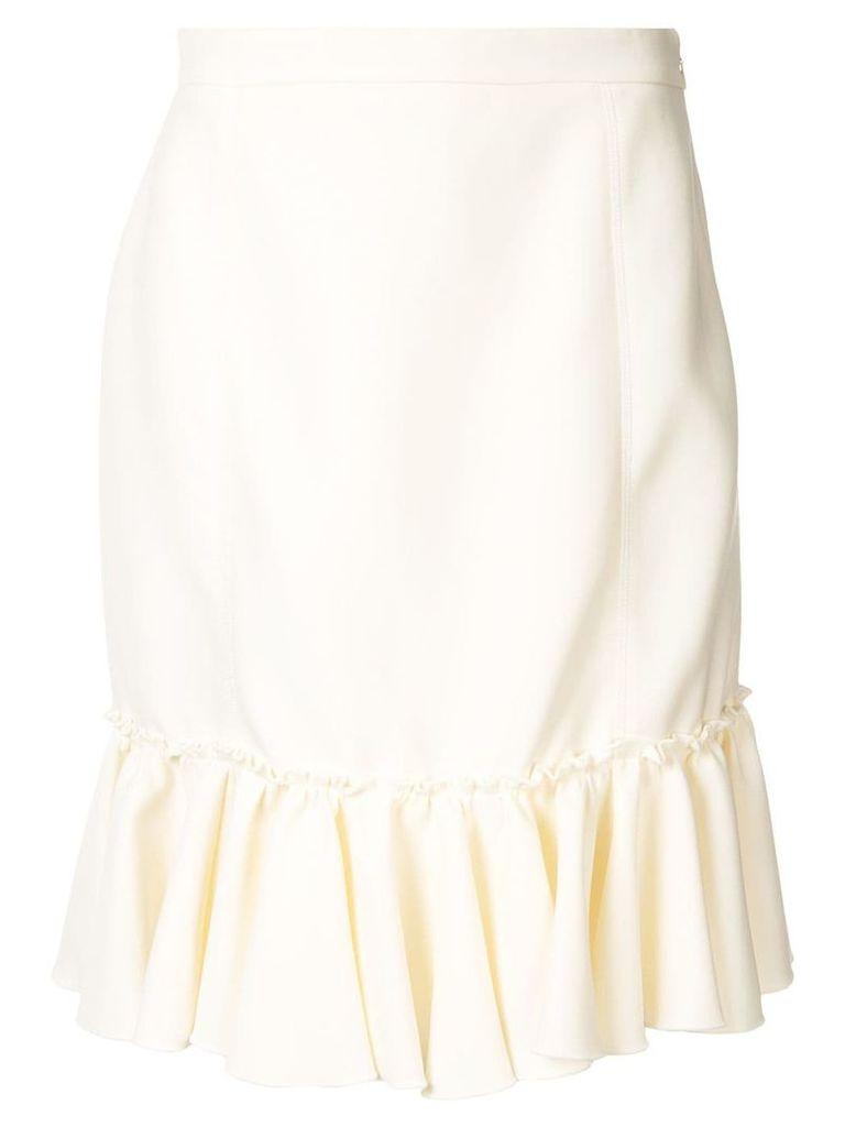 Giambattista Valli ruffled skirt - White