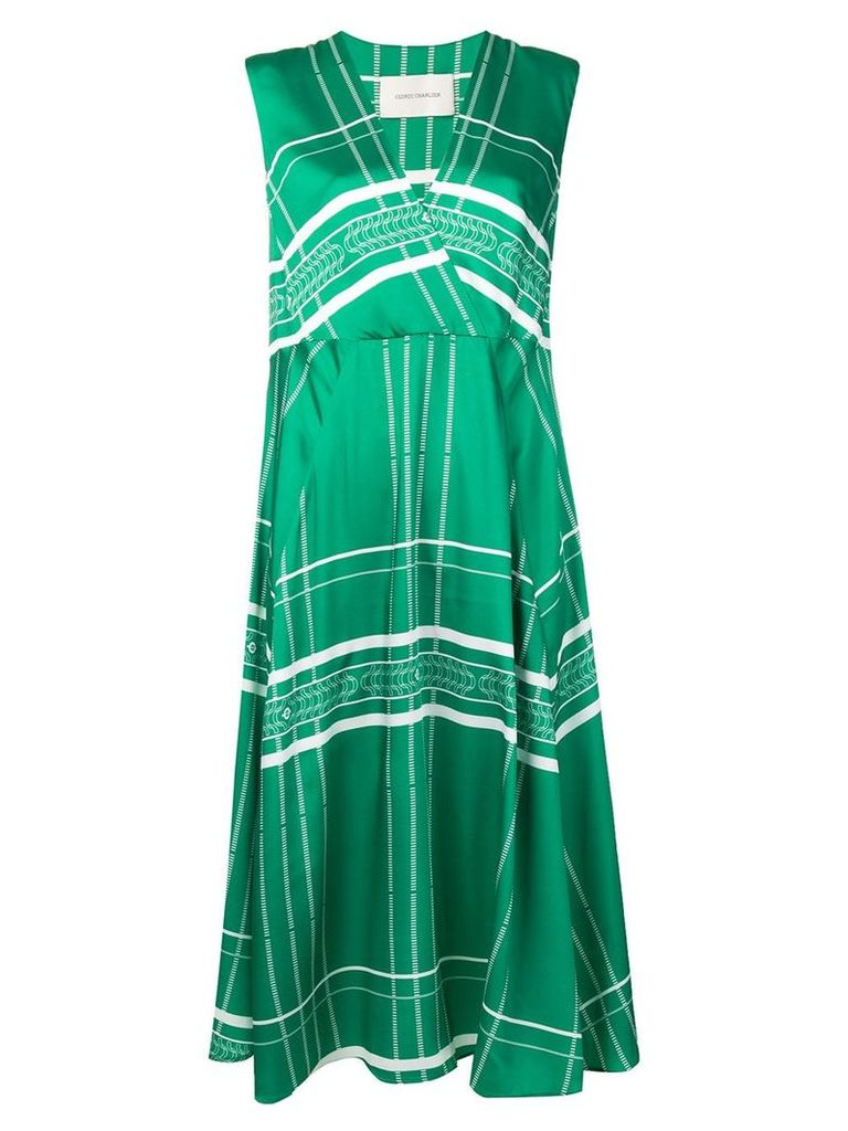 Cédric Charlier patterned dress - Green