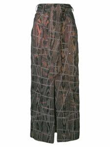 Talbot Runhof belted patchwork skirt - Black