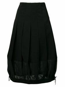 Comme Des Garçons Noir Kei Ninomiya drawstring hem dress - Black