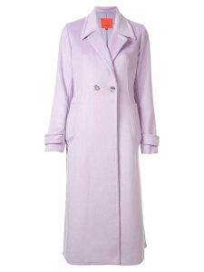Manning Cartell classic single breasted coat - Purple